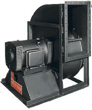 Industrial packager force air fan - backward curve blower.